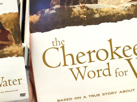 Cherokee Word for Water logotype on DVD cover